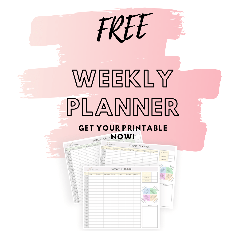 free weekly planner only for ladies