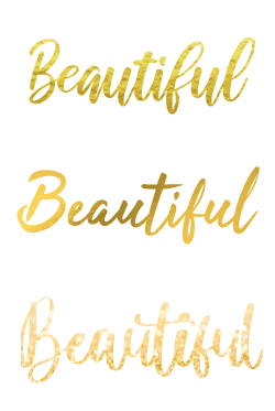 metallic text with powerpoint